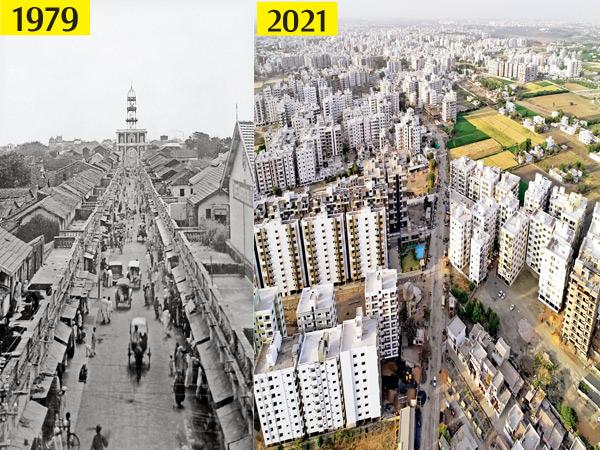 42 વર્ષ પહેલાં સર્જાયેલી જળ હોનારત પહેલાં શાંત અને રમણીય લાગતા મોરબી શહેરની દોટ હવે તમામ ક્ષેત્રે મેગા સિટી જેવી બની રહી છે. - Divya Bhaskar