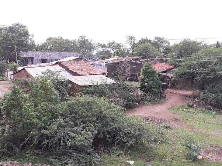 નિઝર તાલુકામાં આવેલા વેલ્દા ગામમાં દિવાલ અભાવે હાલાકી પડી રહી છે. - Divya Bhaskar