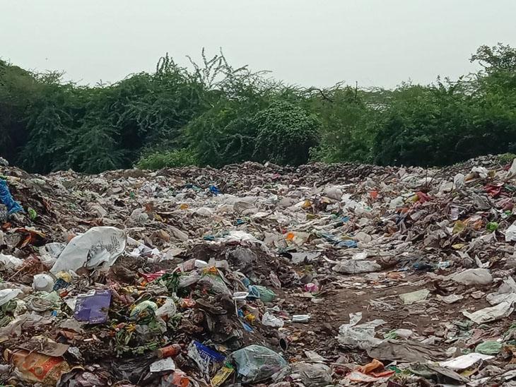 ડમ્પિંગ સાઇટ પર કચરો નાખતાં કચરાના ઢગ ખડકાયા - Divya Bhaskar