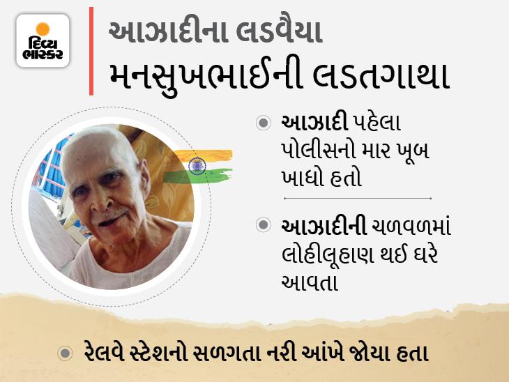 'એ સમયે સરકાર જ દારુની ભઠ્ઠીઓ ચલાવતી, દારુ ન પીવા અમે લોકોને સમજાવતા, ન માને તો પથ્થરમારો કરતા: રાજકોટના 92 વર્ષના સ્વાતંત્ર્ય સેનાની|રાજકોટ,Rajkot - Divya Bhaskar