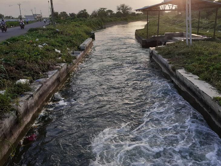 ખરીફ પાકને બચાવવા છોડાયેલું નહેરનું પાણી. - Divya Bhaskar