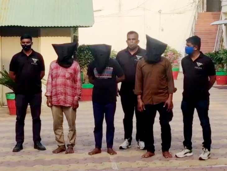 અમદાવાદ જિલ્લા LCB ઉંઘતી રહી અને શહેર ક્રાઈમ બ્રાન્ચે ઇસ્કોન ગ્રીન બંગ્લોઝમાં ચોરી કરનાર મોહનીયા ગેંગના ત્રણ આરોપીની ધરપકડ કરી|અમદાવાદ,Ahmedabad - Divya Bhaskar
