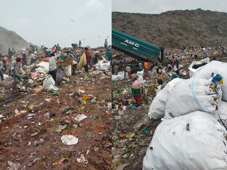 કચરાના ઢગલા પર આ બધાની વચ્ચે પણ ક્યાંક નાની-નાની ખુશી મેળવવા આ લોકો પ્રયાસ કરતા હોય છે