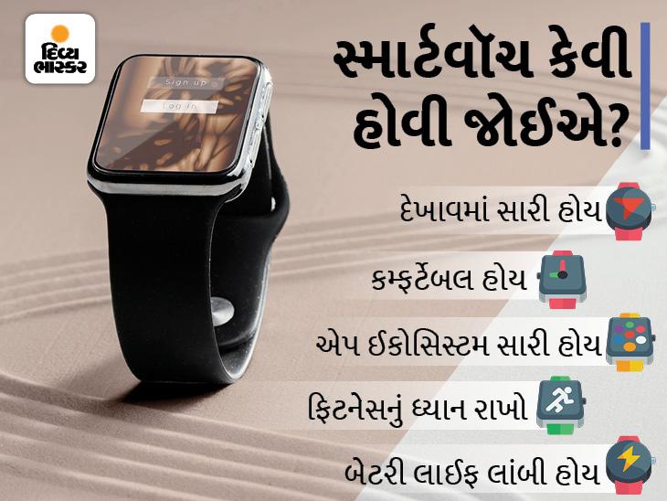માર્કેટમાં એપલથી પણ સારી સ્માર્ટવૉચ અવેલેબલ, ઓછી કિંમતમાં તમારી હેલ્થ ટ્રેક કરશે, ખરીદતી વખતે બેટરી લાઈફ અને એપ્સની ધ્યાન રાખો|ગેજેટ,Gadgets - Divya Bhaskar