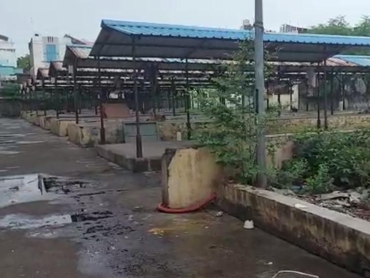 સુરતના કતારગામમાં બનેલું શાક માર્કેટ ઉપયોગના અભાવે બન્યું અસામાજિક તત્વોનો અડ્ડો, સ્થાનિકો પરેશાન|સુરત,Surat - Divya Bhaskar