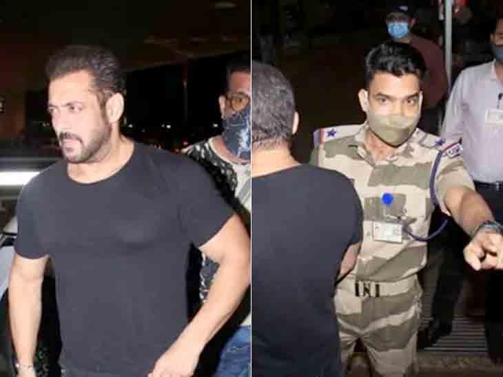 મુંબઈ એરપોર્ટ પર CISFના જવાને સલમાન ખાનને રોક્યો, સો.મીડિયા યુઝર્સે કહ્યું- આપણાં જવાનને સેલ્યુટ|બોલિવૂડ,Bollywood - Divya Bhaskar