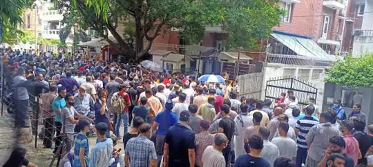 દિલ્હીમાં રહેતા સેંકડો અફઘાનીઓ આ પ્રદર્શનમા જોડાયા છે.