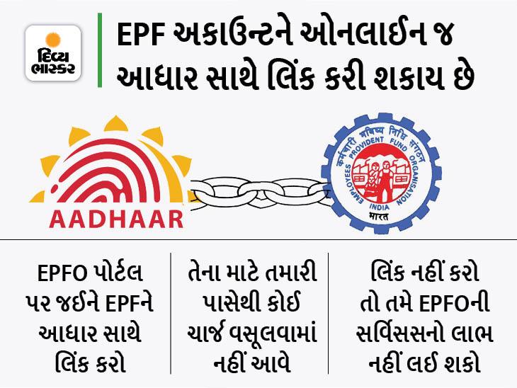 31 ઓગસ્ટ સુધી EPF અકાઉન્ટને આધાર સાથે લિંક નહીં કરો તો પૈસા અટકી શકે છે યુટિલિટી,Utility - Divya Bhaskar