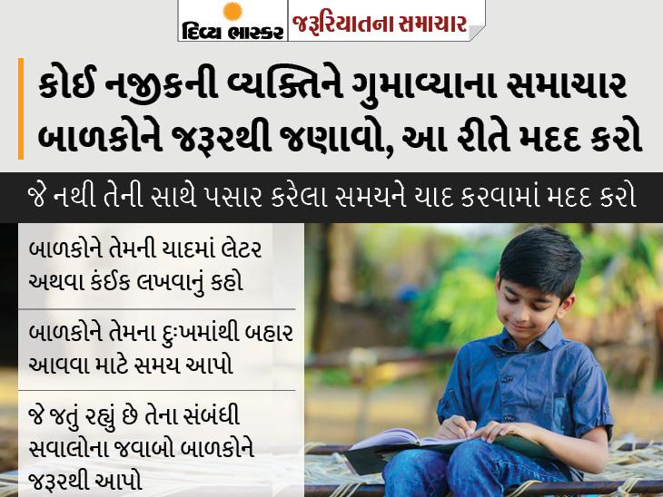 બાળકો પોતાને જવાબદાર ન માને એટલા માટે સ્પષ્ટપણે તેમને સમાચાર આપો; જો વર્તનમાં ફેરફાર દેખાય તો એક્સપર્ટની સલાહ લો|યુટિલિટી,Utility - Divya Bhaskar