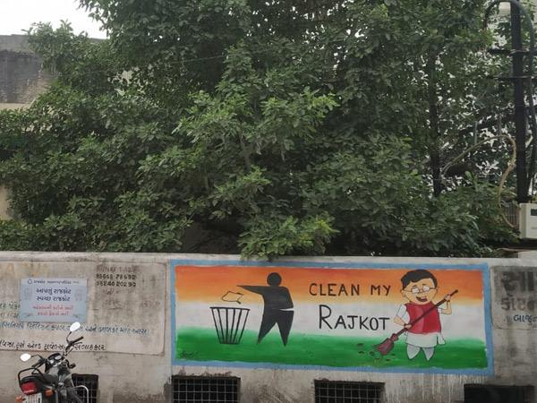 163માંથી 6 ન્યૂસન્સ પોઈન્ટ પર સફાઈ કરી રંગરોગાન કર્યા રાજકોટ,Rajkot - Divya Bhaskar
