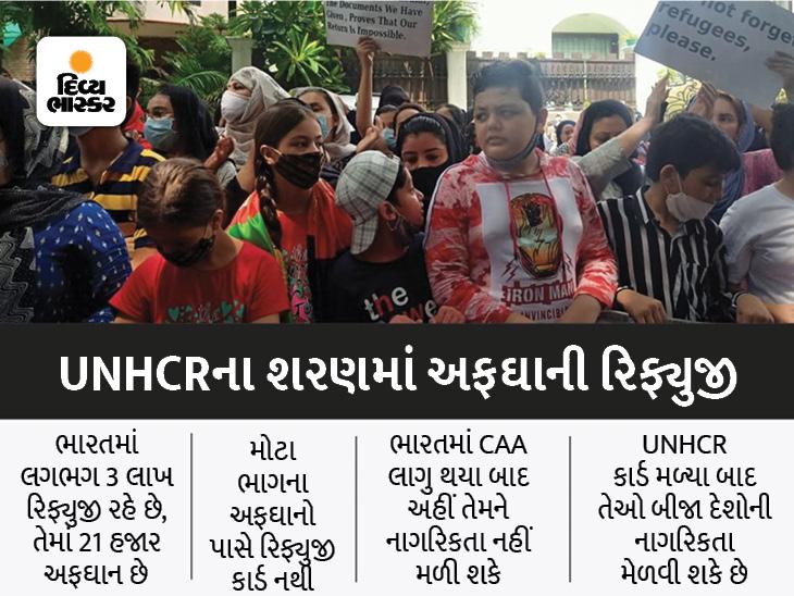 ભારતમાં રહી શકાશે નહીં, અફઘાનિસ્તાન જઈ શકાશે નહીં, દિલ્હીમાં UNHCR સામે પ્રદર્શન, રેફયુજી કાર્ડની પ્રબળ માંગણી|ઈન્ડિયા,National - Divya Bhaskar