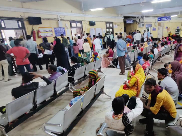 સિવિલ હોસ્પિટલની ઓપીડીમાં પણ બે અઠવાડિયાથી ડેન્ગ્યુ-ચિકનગુનિયાના કેસમાં વધારો થયો છે. - Divya Bhaskar