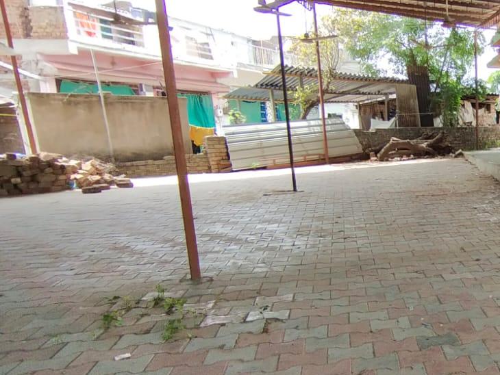 રામાપીર મંદિરમાં પેવર બ્લોક