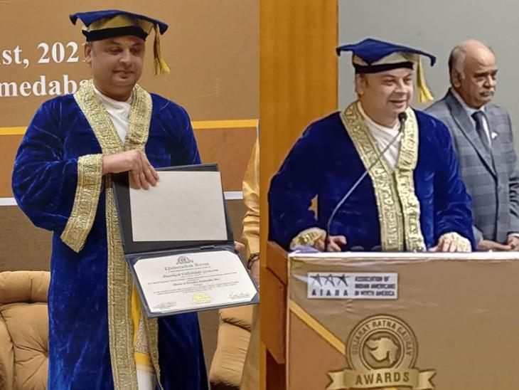 વૈષ્ણવાચાર્ય દ્વારકેશલાલજીએ 'આધુનિક યુગમાં વિશ્વ ધર્મનો અદ્યતન અભ્યાસ' વિષય પર PhD કરી