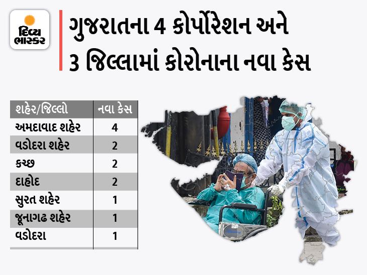 રાજ્યમાં 13 નવા કેસ અમદાવાદ કોર્પોરેશનમાં સૌથી વધુ 4 કેસ, સુરત જિલ્લામાં એક દર્દીનું મોત|અમદાવાદ,Ahmedabad - Divya Bhaskar