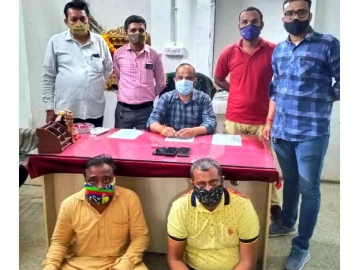 પોલીસે ઝડપેલા આરોપીઓ - Divya Bhaskar