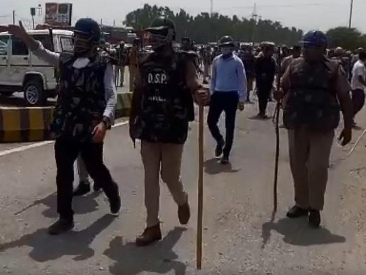 હરિયાણામાં રસ્તો જામ કરી રહેલા ખેડૂતો પર પોલીસે લાઠીચાર્જ કર્યો, ઘણા ખેડૂતોના માથા ફુટ્યાં; દિલ્હી-હિસાર પર ટ્રાફિક ડાઈવર્ટ|ઈન્ડિયા,National - Divya Bhaskar