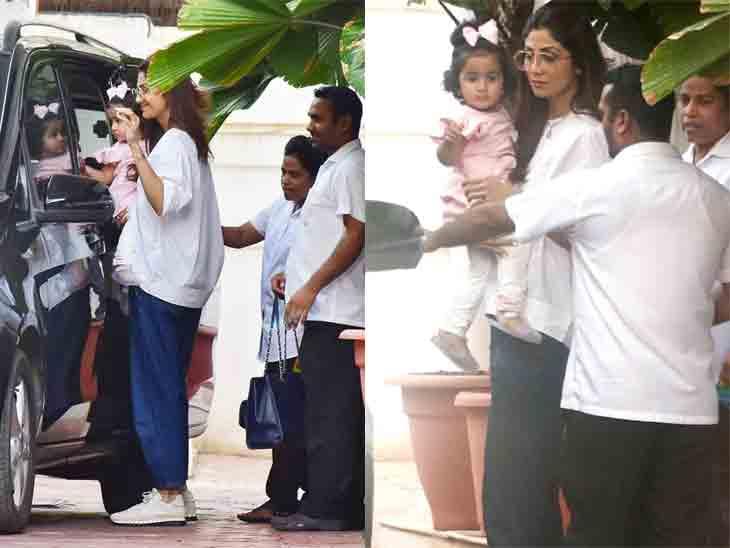 પતિની પોર્નોગ્રાફી કેસમાં ધરપકડ થયા બાદ શિલ્પા શેટ્ટી પહેલી જ વાર દીકરી સાથે ફરવા નીકળી|બોલિવૂડ,Bollywood - Divya Bhaskar