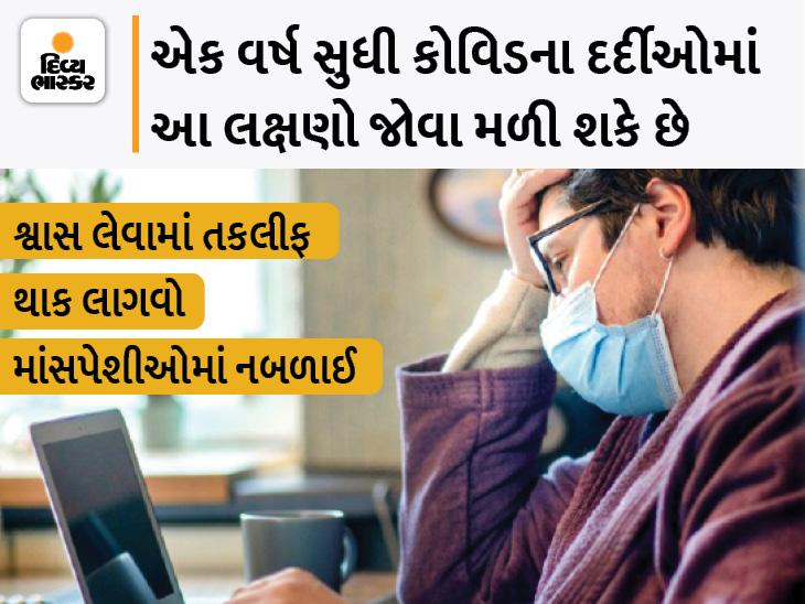 હોસ્પિટલમાં દાખલ થયેલા કોરોનાના 50% દર્દીઓમાં 1 વર્ષ પછી પણ લક્ષણો જોવાં મળ્યાં, સ્ટિરોઈડ લેતાં દર્દીઓમાં થાક અને માંસપેશી નબળી પડી જવાનાં લક્ષણો વધુ|હેલ્થ,Health - Divya Bhaskar