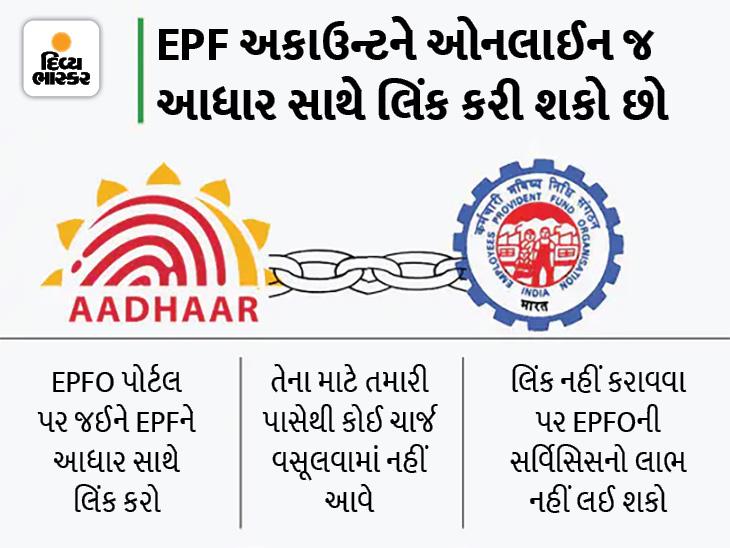 EPF અકાઉન્ટને આધાર સાથે લિંક કરવાની છેલ્લી તક, નહીં કરાવવા પર પૈસા અટકી શકે છે|યુટિલિટી,Utility - Divya Bhaskar