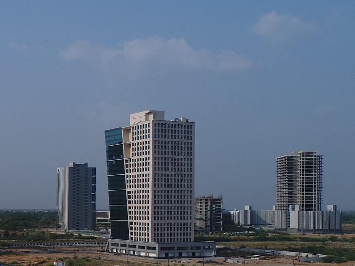 ગાંધીનગર સ્થિત ગિફ્ટ સિટી.