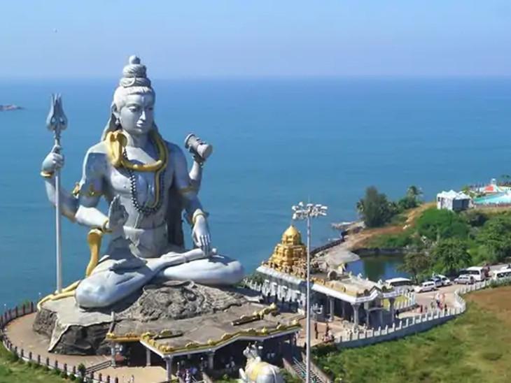 મુરુદેશ્વર મહાદેવ; રાવણના કારણે માત્ર બૈજનાથ જ્યોતિર્લિંગ જ નહીં, દક્ષિણ ભારતમાં પણ આ શિવલિંગ સ્થાપિત થયું|ધર્મ,Dharm - Divya Bhaskar