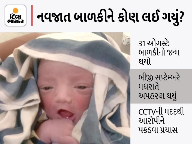સોલા સિવિલમાંથી ગુમ બાળકીને શોધવા 70 પોલીસની ટીમ કામે લાગી, સ્થાનિક પોલીસ નિષ્ફળ જતા હવે ક્રાઈમ બ્રાન્ચ પણ જોડાઈ અમદાવાદ,Ahmedabad - Divya Bhaskar
