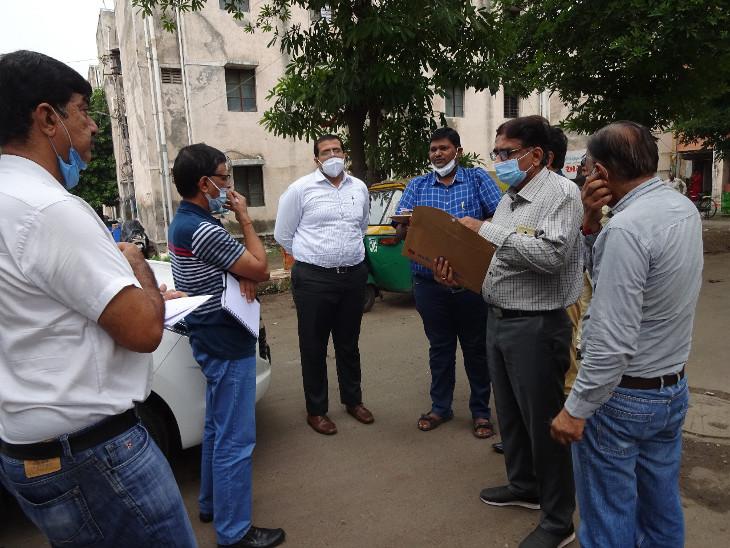 મનપા કમિશનર અમિત અરોરાએ આવાસ યોજનાની સાઇટ વિઝીટ લીધી. - Divya Bhaskar