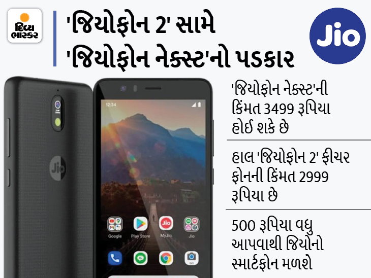 'જિયોફોન નેક્સ્ટ'નાં લોન્ચિંગથી 'જિયોફોન 2'નાં વેચાણ પર અસર થઈ શકે છે, આ ફીચર ફોનની કિંમત ₹2999|ગેજેટ,Gadgets - Divya Bhaskar