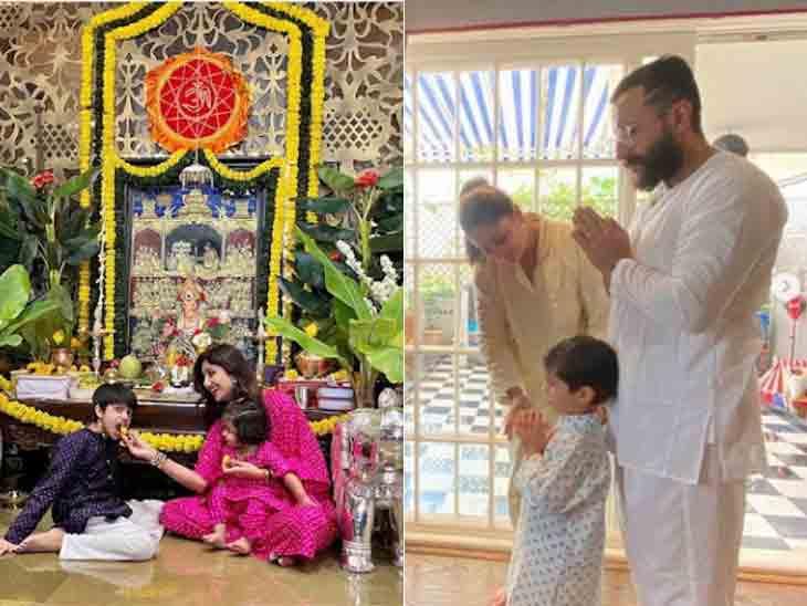 શિલ્પા શેટ્ટીએ પતિ વગર સંતાનો સાથે સેલિબ્રેશન કર્યું, સેલેબ્સે ધામધૂમથી ઘરે ગણેજીની સ્થાપના કરી|બોલિવૂડ,Bollywood - Divya Bhaskar