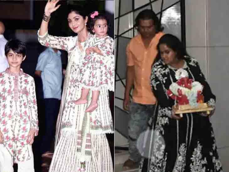 શિલ્પા શેટ્ટીએ સાસુ-સસરા સાથે ઘરમાં જ ગણપતિનું વિસર્જન કર્યું, સલમાનની બહેને પણ ગણેશજીને ભાવભીની વિદાય આપી|બોલિવૂડ,Bollywood - Divya Bhaskar