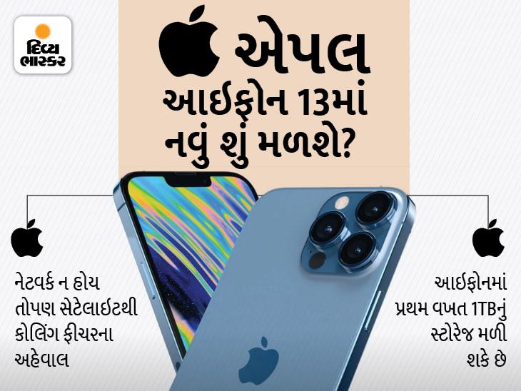 લેટેસ્ટ આઇફોનમાં સેટેલાઇટ કોલિંગ અને 1TBનું સ્ટોરેજ મળી શકે છે, એપલ વોચ 7 અને એરપોડ્સ 3 પણ લોન્ચ થશે|ગેજેટ,Gadgets - Divya Bhaskar