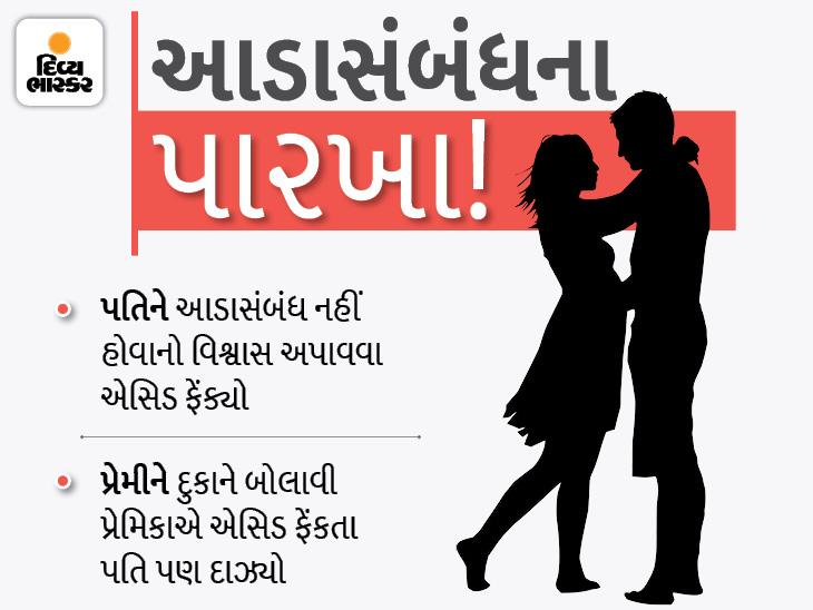 સુરતમાં યુવકને થયો પરિણીતા સાથે પ્રેમ, પતિને જાણ થતા પ્રેમિકા પાસે જ પ્રેમી પર એસિડ એટેક કરાવ્યો|સુરત,Surat - Divya Bhaskar