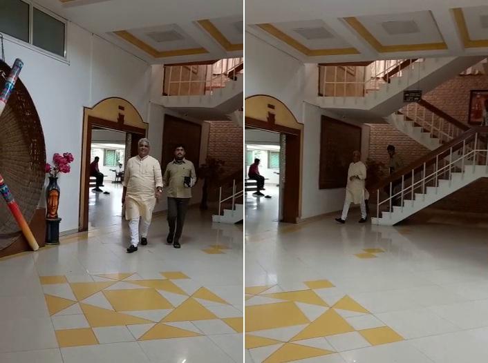 સરકારના નવા મંત્રીમંડળ માટે દિવસભર ગાંધીનગરમાં ચાલેલી કવાયત વચ્ચે ભાજપ પ્રભારી ભૂપેન્દ્ર યાદવ અમદાવાદ સર્કિટ હાઉસમાં એકલા જ રહ્યા|અમદાવાદ,Ahmedabad - Divya Bhaskar