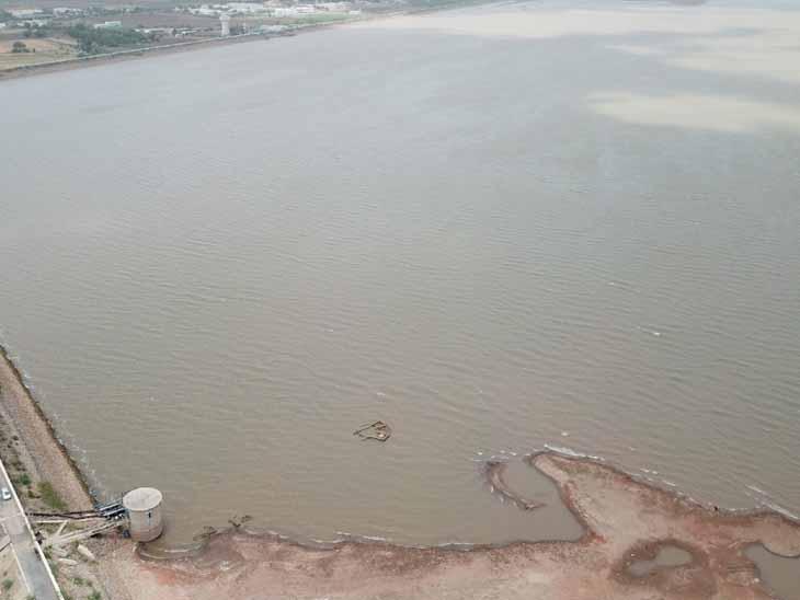 સુરેન્દ્રનગર ધોળીધજા ડેમમાં નવાં નીર આવતા પાણીથી તરબતર થયો છે. - Divya Bhaskar