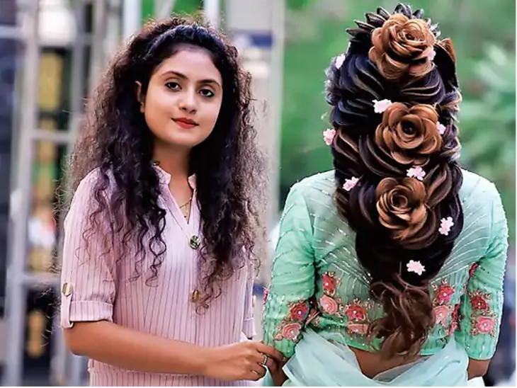 મહિલાની સુંદરતા વધારતા વાળને પાયલ પટેલ મોડર્ન ટચ આપે છે.