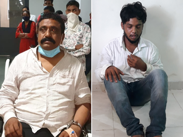 પકડાયેલા બે લૂંટારુઓ વિવેક અને સચિન - Divya Bhaskar