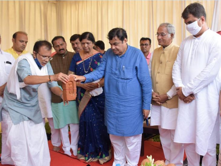 કેન્દ્રિય માર્ગ પરિવહન અને રાજમાર્ગ મંત્રી નીતિન ગડકરીએ આજે વડોદરા શહેરની મુલાકાત લીધી હતી - Divya Bhaskar