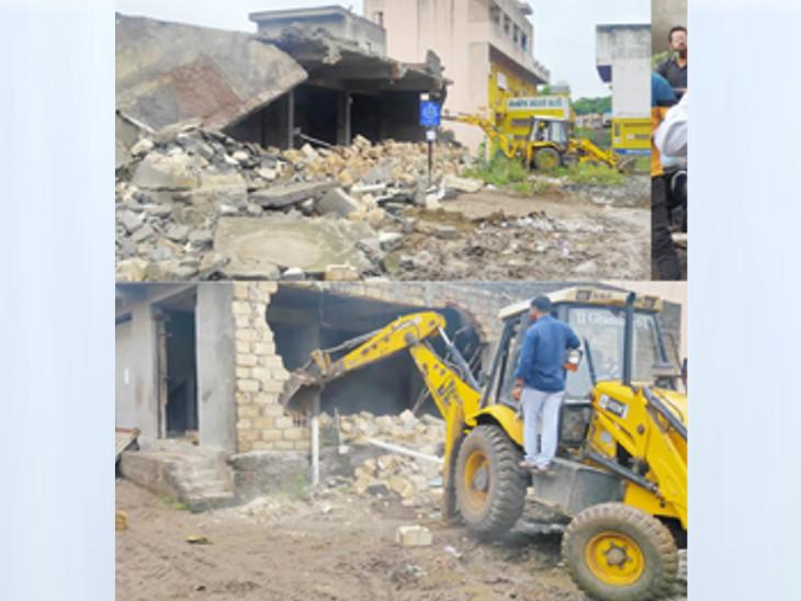 રાજકોટના ટ્રાન્સપોર્ટનગરમાં બે ગોડાઉન તોડી પાડી 4 કરોડની જમીન ખુલ્લી કરાઇ, કલેક્ટરનો 3 શખસ સામે લેન્ડ ગ્રેબિંગ એક્ટ હેઠળ કાર્યવાહી કરવા આદેશ|રાજકોટ,Rajkot - Divya Bhaskar
