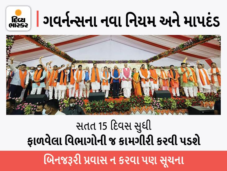 ગુજરાતના નવા મંત્રીઓ સોમવારે 12.39ના વિજય મુહૂર્તમાં સંભાળશે કાર્યભાર, 15 દિવસ ગાંધીનગર ન છોડવા આદેશ|અમદાવાદ,Ahmedabad - Divya Bhaskar
