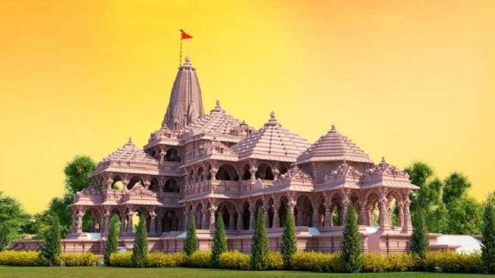 અયોધ્યામાં બની રહેલા રામ મંદિરની પ્રતિકાત્મક તસવીર