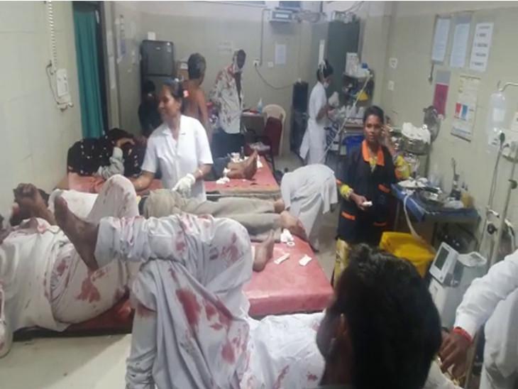 ઈજાગ્રસ્તોને હોસ્પિટલમાં ખસેડાયા હતા