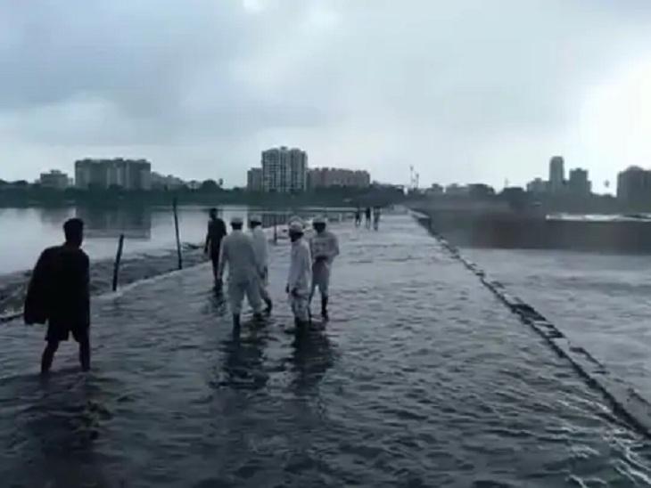 સુરતમાં વરસાદથી કોઝવે પર પાણી ફરી વળ્યા