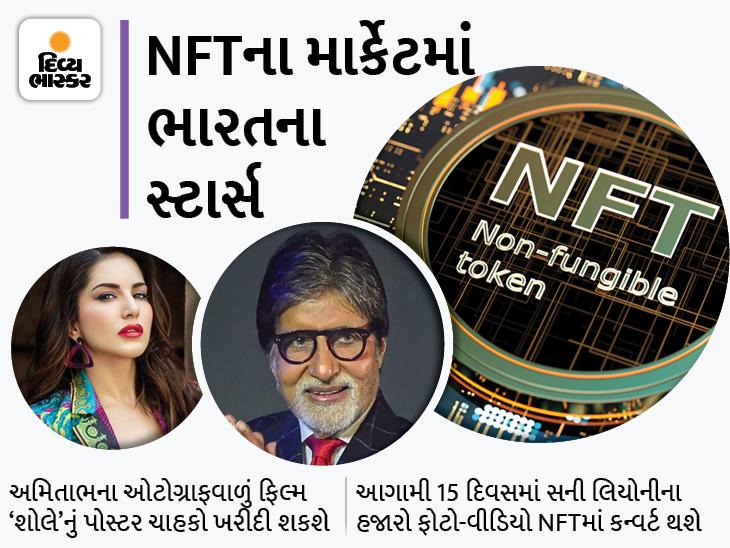 NFTના બજારમાં અમિતાભ-સની લિયોની પણ, બિગ બી પોતાના અવાજમાં પિતાની કવિતા 'મધુશાલા'તો સની ફોટો-વીડિયો વેચશે|બોલિવૂડ,Bollywood - Divya Bhaskar