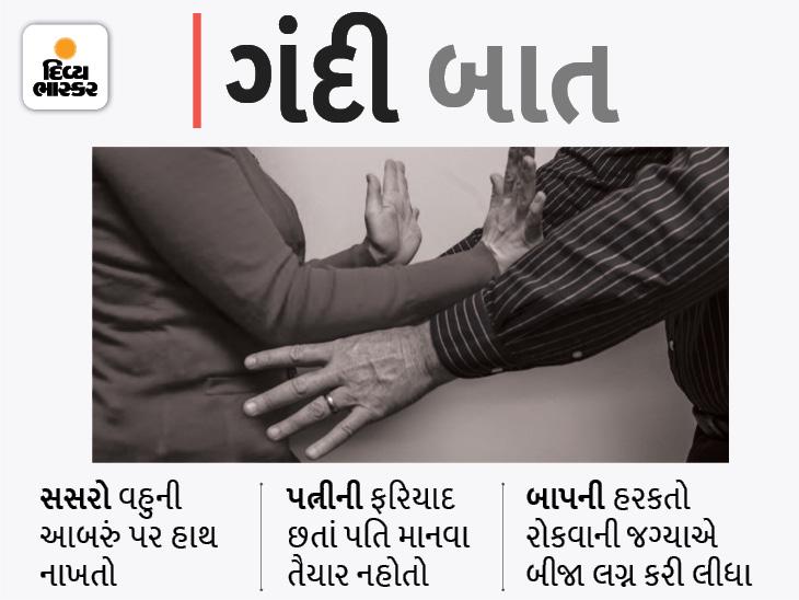 અમદાવાદમાં પતિ કામે જાય ત્યારે સસરો રૂમમાં ઘૂસીને વહુને અડપલાં કરતો, પરિણીતા મદદ માટે પોલીસ પાસે પહોંચી અમદાવાદ,Ahmedabad - Divya Bhaskar