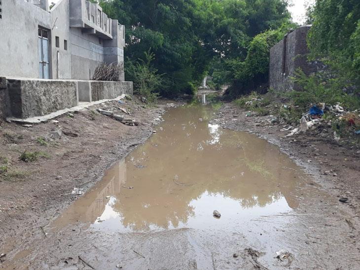 કાદવ અને કીચડ થતા ગામજનોની હાલત કફોડી બની ગઈ છે. - Divya Bhaskar