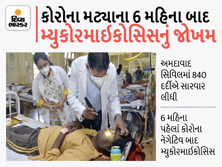 કોરોના ગયો, પણ ડર નહીં, 10 ટકા કેસમાં કોરોનાગ્રસ્ત ન થયા હોય તોપણ મ્યુકરમાઇકોસિસ ગમે ત્યારે થઈ શકે|અમદાવાદ,Ahmedabad - Divya Bhaskar