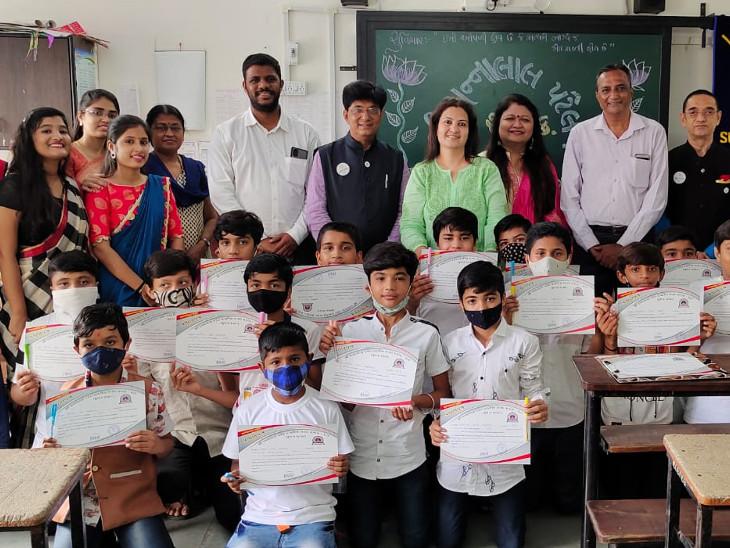 જુદી જુદી સ્પર્ધાઓનું આયોજન કરી બાળકો માં રહેલી પ્રતિભા અને કૌશલ્ય વિકસે તે હેતુથી બાળકોને પ્રોત્સાહિત કરાયા - Divya Bhaskar