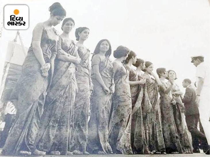 ભારતીય પહેરવેશ સાડીમાં એર ઈન્ડિયાની પૂરી ક્રૂ
