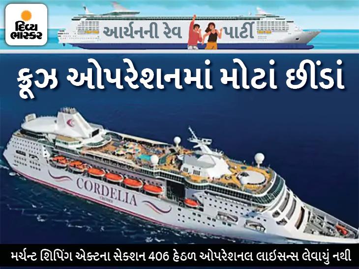 ગેરકાયદેસર રીતે કૉર્ડેલિયા ભારતીય દરિયાઈ સીમામાં ઓપરેટ થતું હતું, ક્રૂઝ પર પાર્ટીની પરમિશન પણ લીધી નહોતી|બોલિવૂડ,Bollywood - Divya Bhaskar